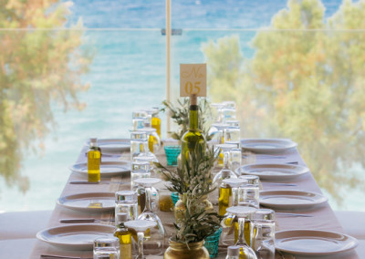 Olive Theme Table Centerpiece